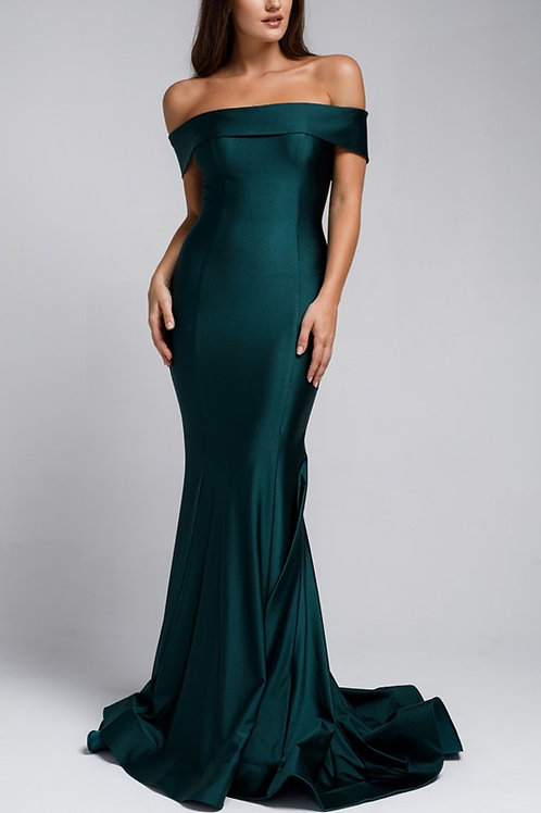 BabyFox730 Off The Shoulder Fitted Gown