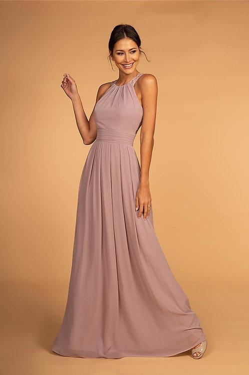 GLS05 Chiffon High Neck Dress