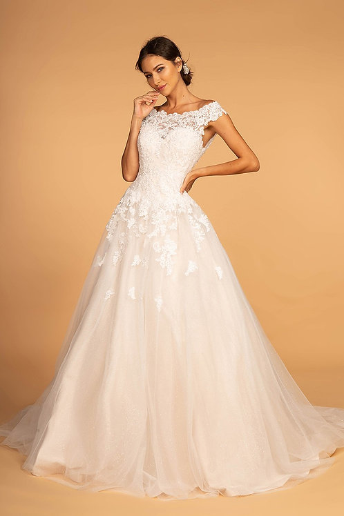 GLS96 Off The Shoulder Lace Ball Gown