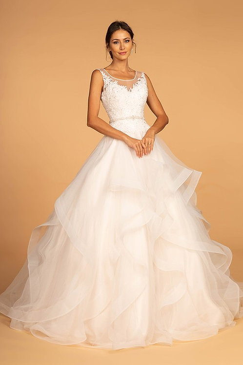 GLS99 V-Neck Tulle Gown