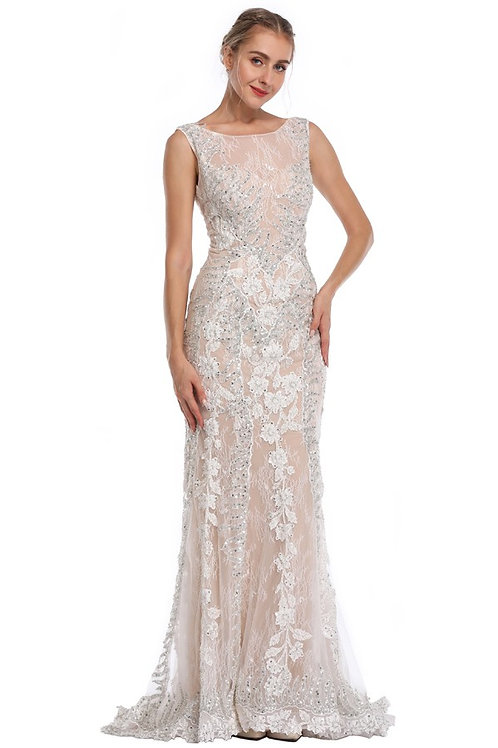 Lace and Sequin Mermaid Gown