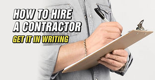 How To Hire A Contractor-Professional Se