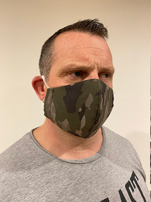 Cotton 3 layered Facemask - Large