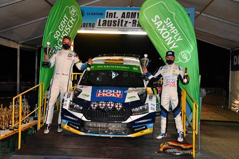 Starker Auftritt bei Lausitz-Rallye und Sieg nur knapp verpasst
