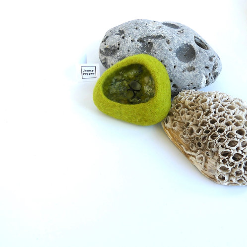 Rockpool  Brooch Lime/Olive
