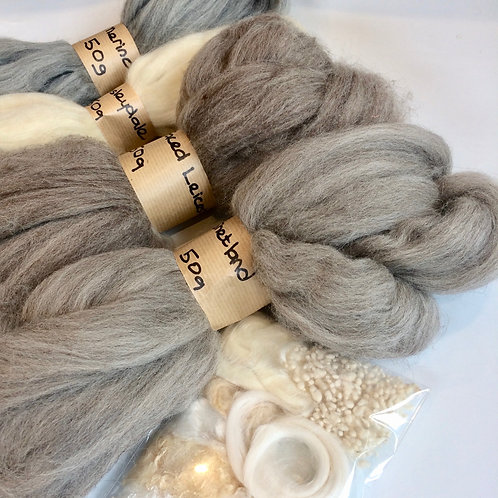 Natural Collection of Wool Tops for Felt Making