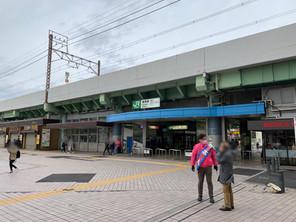 亀有駅頭にて区政報告。