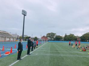 葛飾区サッカー協会 開会式に出席