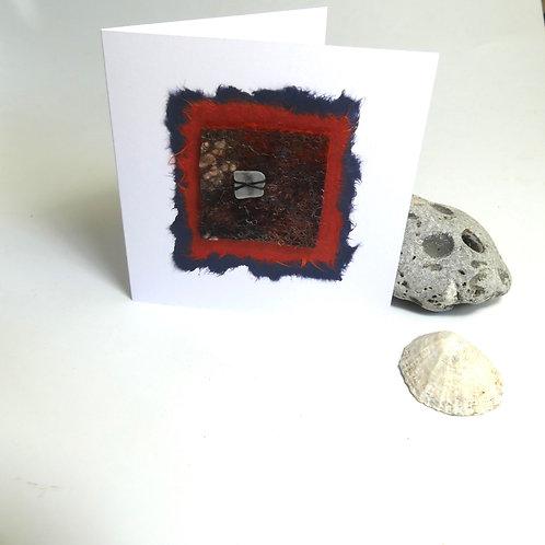 Felt Embellished Greeting Card  in Rust