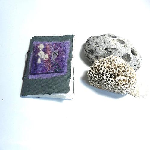 Handmade Book with Mauve Felt Embellishment