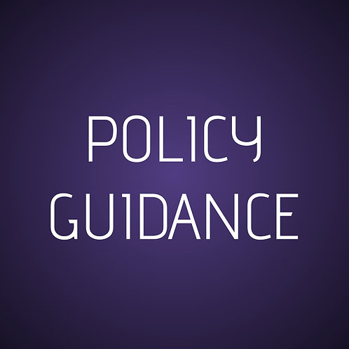Policy Writing Guidance Document