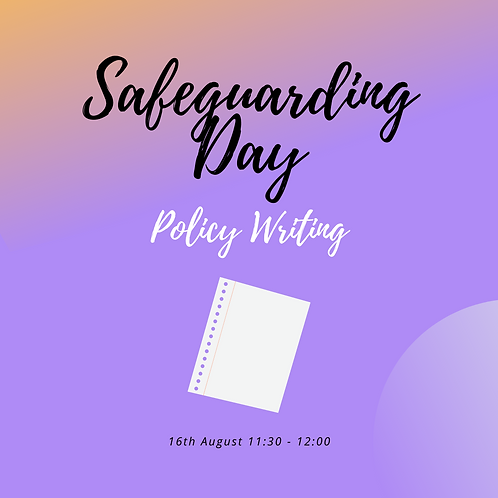 Policy Writing Mini - 16th August