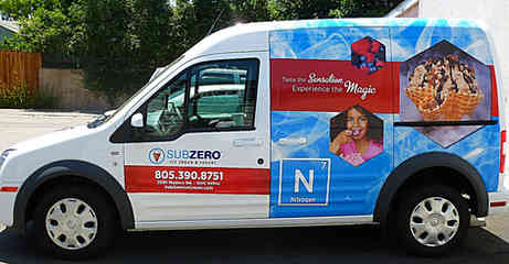 Vehicle wrap for an Ice Cream Company