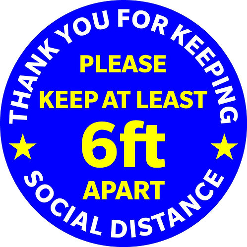Keeping Social Distance - Blue