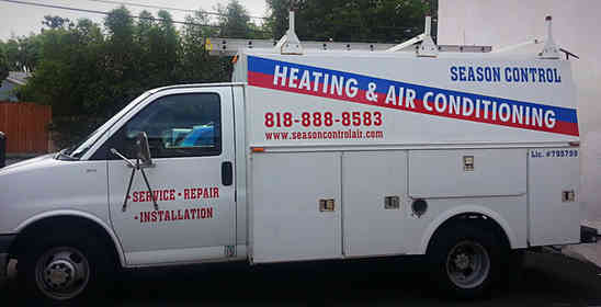 Vehicle lettering for a Heating and Air Conditioning company van