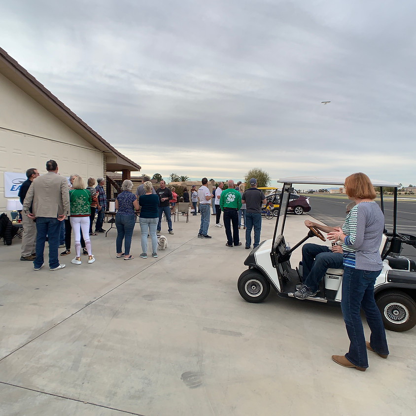 Casual get Together at Peggy & Larry's Hangar