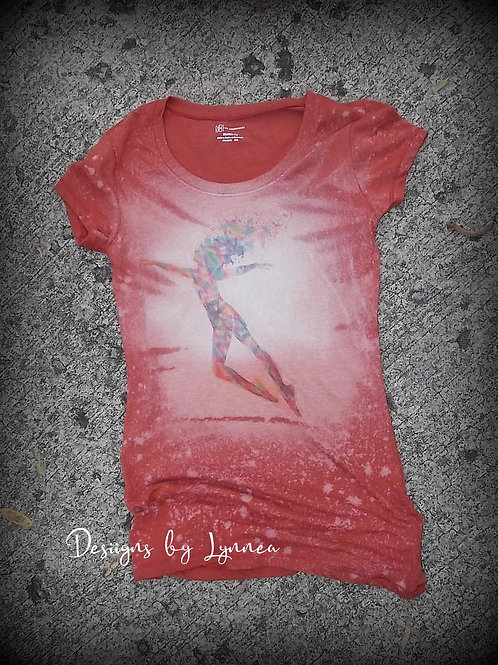 Watercolor Dancer on Rust Tee XS