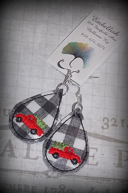 Little Red Truck Earrings