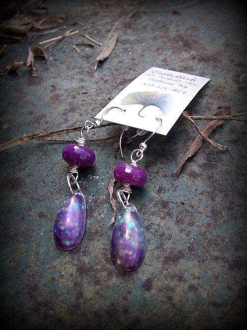 Purple Paradise Earrings