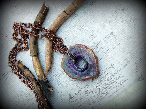 Purple and Copper Quartz Necklace