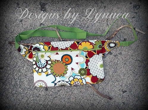Bright Flowers FannyPack/Cross BodyBag
