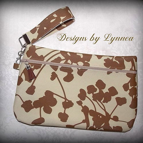 Abstract Zippered Clutch