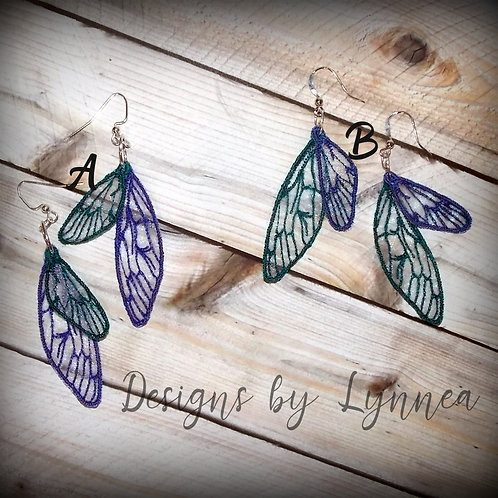 Organza Wing Earrings