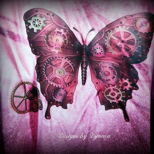 Steampunk Butterfly Tank - Cranberry - Size M