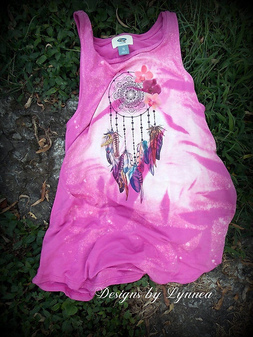 Pink Dream Catcher Tank - Size XS