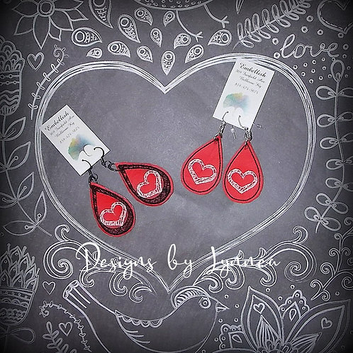 Sketchy Heart Earrings
