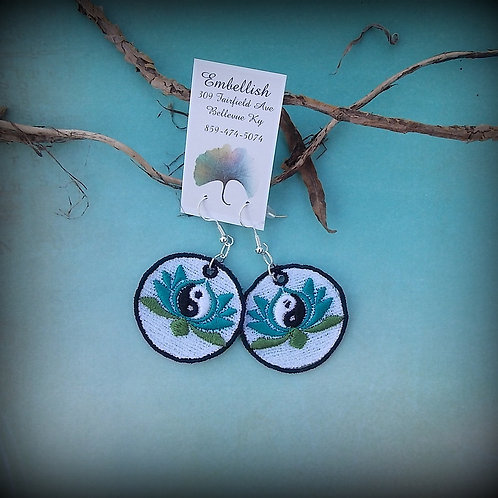 Yin Yang Lotus Earrings