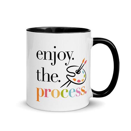 """""""enjoy the process"""" 11oz Mug with Color Inside"""