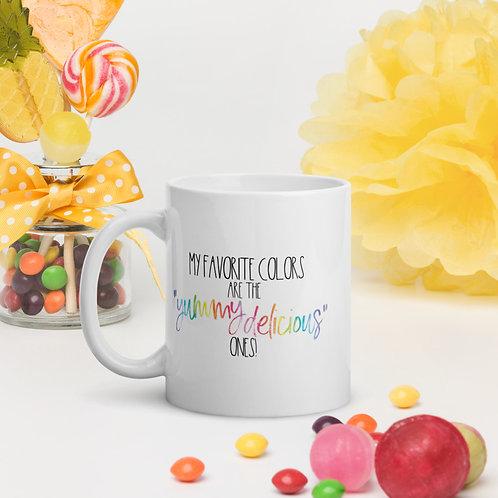 """Yummy Delicious"" Colors Mug 11oz or 15oz"