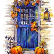 Pumpkins by the Door