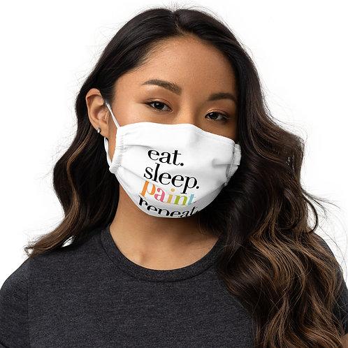 """eat. sleep. paint. repeat."" Premium Face Mask"