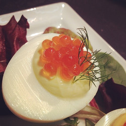 Devilled Eggs With Salmon Roe