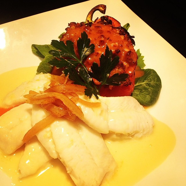 Mimosa Poached Hogfish