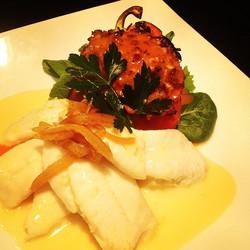 Mimosa Poached Hogfish