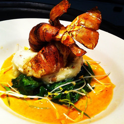 Bacon Wrapped Lobster