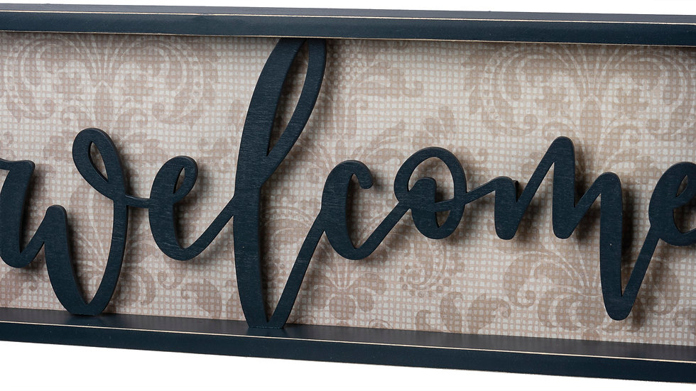 Reverse Box Sign - Welcome