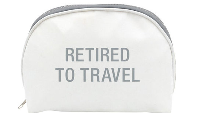 RETIRED TO TRAVEL COSMETIC BAG
