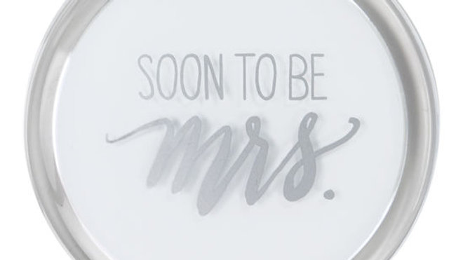 Soon To Be Mrs./Ring Icon Compact Mirror