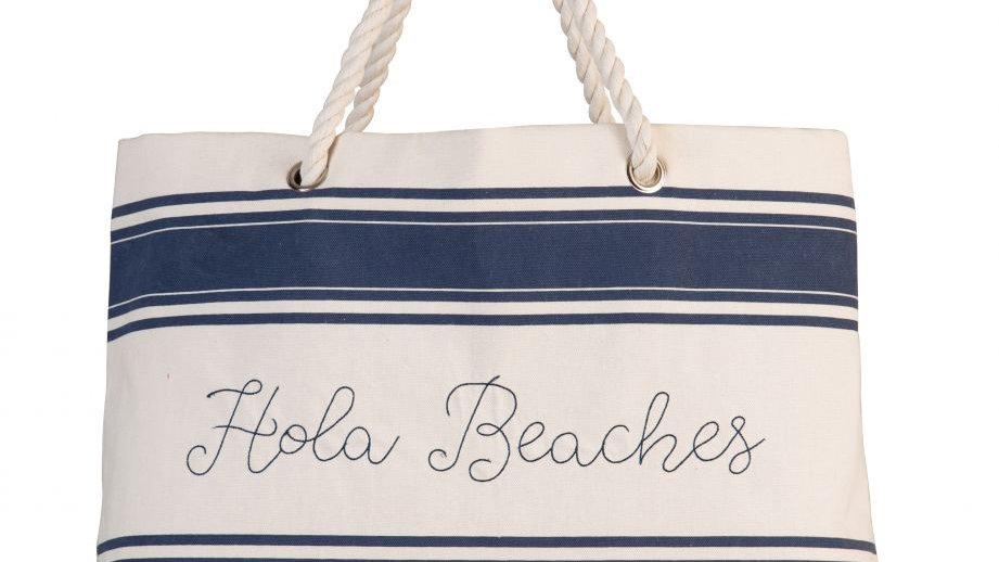 Canvas Beach Tote- Hola Beaches