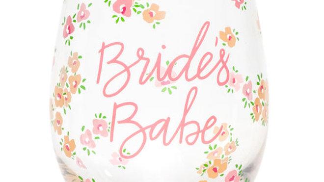 Bride's Babe Wine Glass