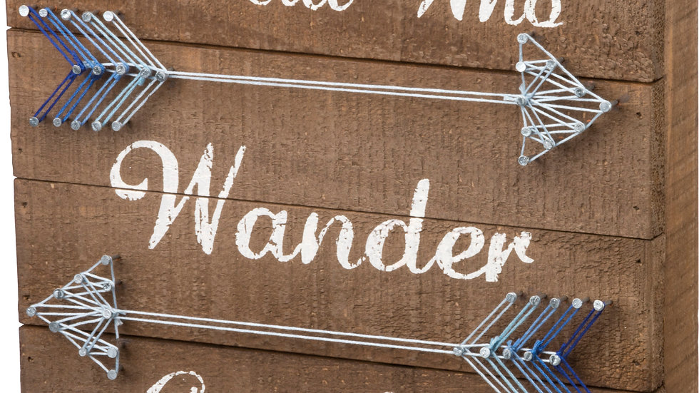 String Art - All Who Wander Are Not Lost