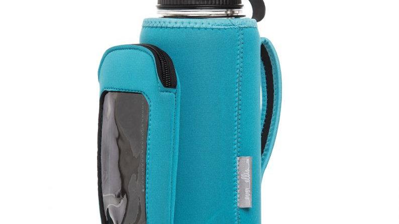 Neoprene Water Bottle Bag Set, Teal