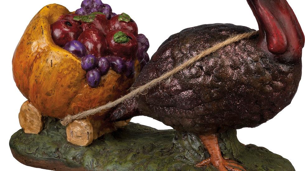 Figurine - Turkey With Wagon