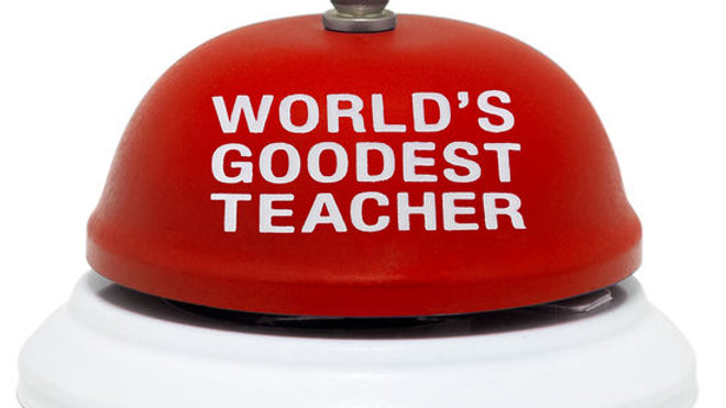 World's Goodest Teacher Desk Bell
