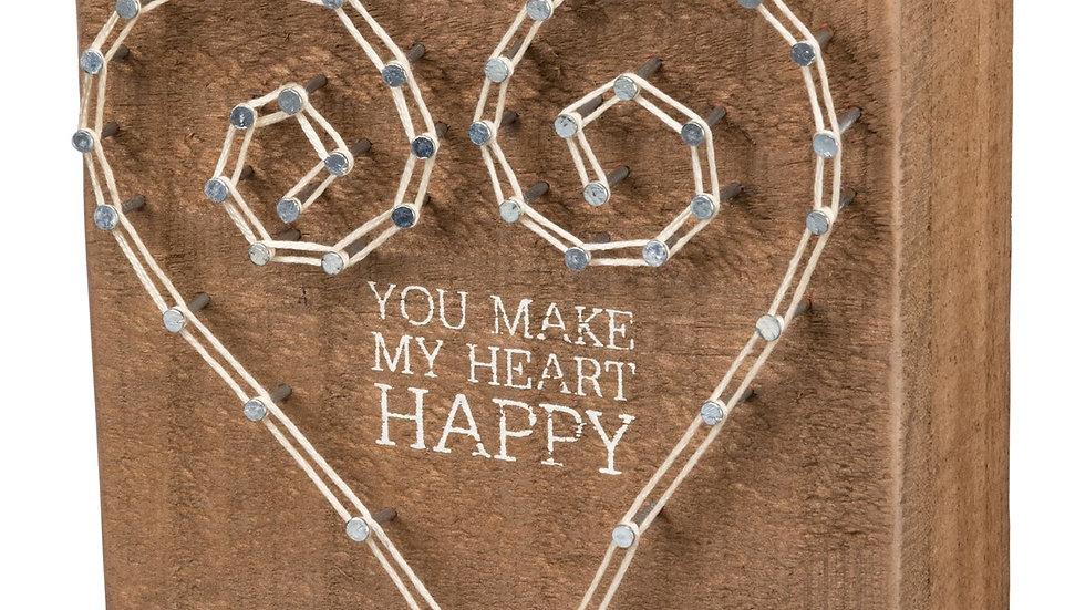 String Art - You Make My Heart Happy