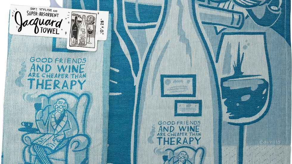 Dish Towel - Good Friends And Wine